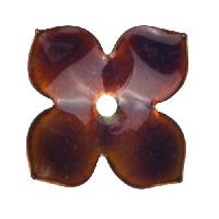 C-Koop Copper Enamel Rivetable / Stackable Flower Petal 4 Pointed 22mm - Wisteria