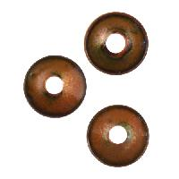 C-Koop Copper Enamel Rivetable / Stackable Disc 8mm - Clear Gold