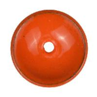 C-Koop Copper Enamel Rivetable / Stackable Disc 19mm - Pumpkin
