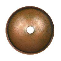 C-Koop Copper Enamel Rivetable / Stackable Disc 19mm - Clear Gold