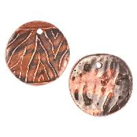 Dorabeth Mixed Metal Charm - Round Large