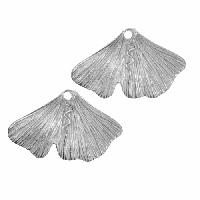 Dorabeth Drop Gingko Leaf Small (2) - Bright