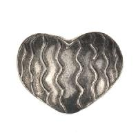 Dorabeth Slide - Heart Wavy Lines - Antique