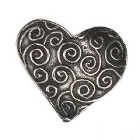 Dorabeth Slide - Heart Loopy Lines - Antique