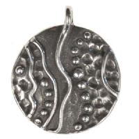 Dorabeth Pendant Round Wavy Dot - Antique