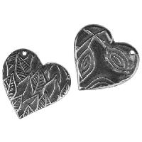 Dorabeth Charm Heart Leaf - Antique