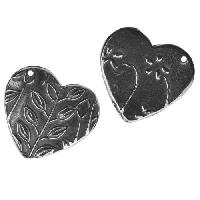Dorabeth Charm Heart Flower - Antique