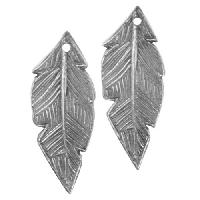 Dorabeth Pendant Drop Striated Feather Small (2) - Antique