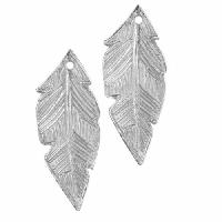 Dorabeth Pendant Drop Striated Feather Small (2) - Bright