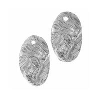 Dorabeth Pendant Drop Textured Folded Oval Small (2) - Bright