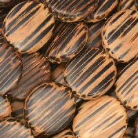 Old Palmwood Bead Wood Coin 15mm - strand