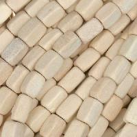 White Wood Nautral Bead Cube 5mm
