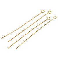 Eye Pin 2 inch 20g (20) - Satin Hamilton Gold