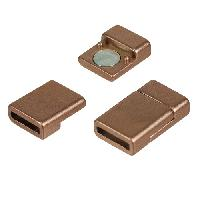 10mm Flat Cord Acrylic Magnetic Clasp - Bronze