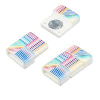 10mm Patterned Flat Cord Acrylic Magnetic Clasp - Quilt
