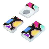 10mm Patterned Flat Cord Acrylic Magnetic Clasp - Bold Splatter
