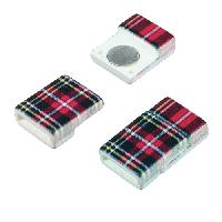 10mm Patterned Flat Cord Acrylic Magnetic Clasp - Red Plaid