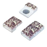 10mm Patterned Flat Cord Acrylic Magnetic Clasp - Autumn Wildflowers