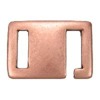 10mm Square Hook Flat Leather Cord Clasp - Antique Copper