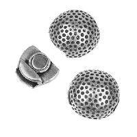 10mm Flat Golf Ball Magnetic Clasp - Antique Silver