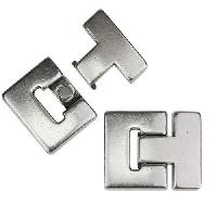 25mm flat T LATCH magnetic clasp ANTIQUE SILVER