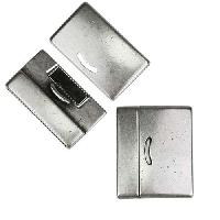 30mm flat DELUX magnetic clasp ANTIQUE SILVER