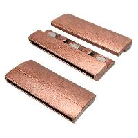 40mm Rectangle Flat Leather Cord Magnetic Clasp - Antique Copper