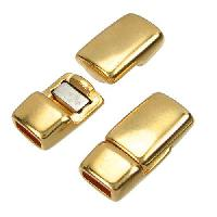 5mm Rounded Flat Leather Cord Magnetic Clasp - Gold Plated