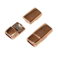 5mm Flat Rounded Magnetic Clasp per 10 pieces - Rose Gold