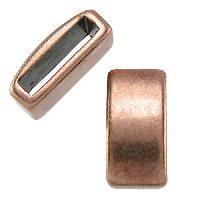 10mm Plain Flat Leather Cord Slider per 10 pieces - Antique Copper