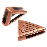 10mm Southwest Triangle Flat Leather Cord Slider - Antique Copper