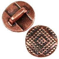 5mm Radiant Square Flat Leather Cord Slider - Antique Copper