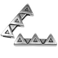 5mm Triad Flat Leather Cord Slider per 10 pieces - Antique Silver