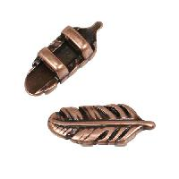 3MM Feather Flat Slider Antique Copper