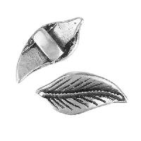 5mm Flat Leaf Slider per 10 pieces - Antique Silver