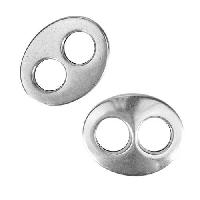10mm Flat Figure 8 Slider - Antique Silver