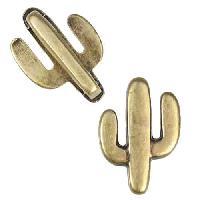 10mm Flat Cactus Slider per 10 pieces - Antique Brass