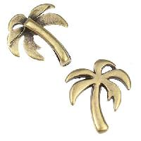 10mm Flat Palm Tree Slider per 10 pieces - Antique Brass