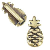 10mm Flat Pineapple Slider per 10 pieces - Antique Brass