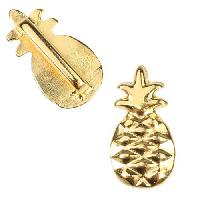 10mm Flat Pineapple Slider per 10 pieces - Gold