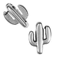 5mm Flat Cactus Slider per 10 pieces - Antique Silver