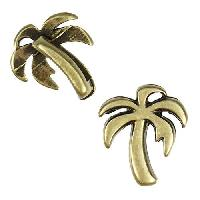 5mm Flat Palm Tree Slider per 10 pieces - Antique Brass