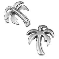 5mm Flat Palm Tree Slider per 10 pieces - Antique Silver