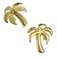 5mm Flat Palm Tree Slider per 10 pieces - Gold