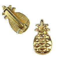 5mm Flat Pineapple Slider per 10 pieces - Gold