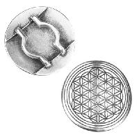 20mm Flat Mandala Slider - Antique Silver