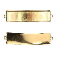 10mm Flat Id Bar Slider per 10 pieces - Gold