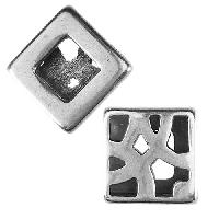 10mm flat DECO PAVER slider ANT SILVER