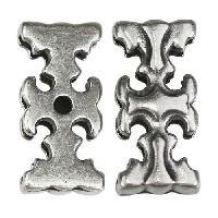 20mm flat GOTHIC CROSS slider ANT SILVER