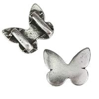 5mm flat MONARCH BUTTERFLY Slider per 10 pieces ANT SILVER